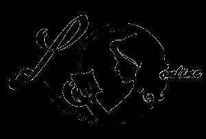 Logo von Lektorin Online. Zu sehen ist die Silhouette einer lesenden Frau.